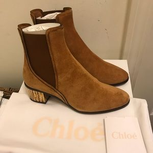 NEW Chloe Quassie Suede Ankle Boots